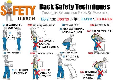 safe lifting diagram back safety tips ztex construction