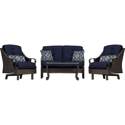 ventura  piece seating set  navy blue venturapc nvy
