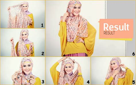 tutorial hijab pashmina sifon motif simple burqabloom hijab tutorial simple and easy hijab