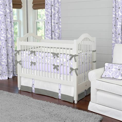 Lilac Crib Bedding Lilac Twirly Crib Bedding Contemporary Atlanta By Carousel Designs