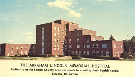 abraham lincoln hospital hospital history of lincoln il