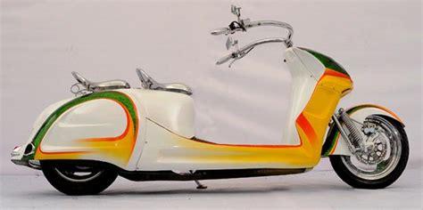 Modifikasi Vespa Model Harley by Gambar Vespa Modifikasi Auto Design Tech