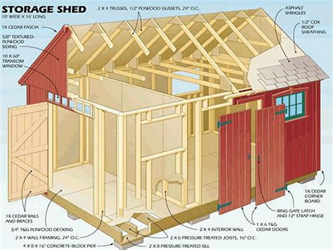 floor plans for sheds 10 215 16 gable storage shed plans blueprints for crafting a