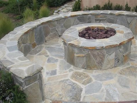 Flagstone Patio With Firepit Flagstone Pit Expensive Yet Beautiful