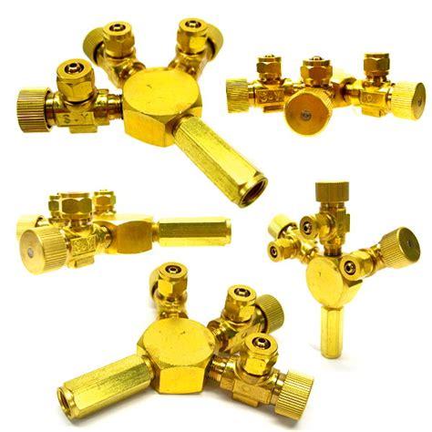 Co2 Tri Regulator 3 ways metal co2 flow controller tri regulator brass splitter solenoid aquatic ebay