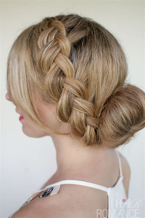 Braided Buns Hairstyles by Braids And Buns Hairstyles For Brides And