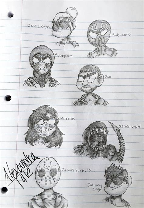 More Mortal Kombat Doodles By Alexandratale On Deviantart