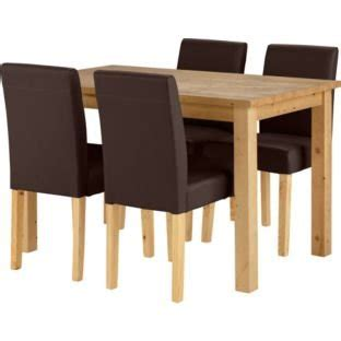 dining table and chairs argos oak stain dining table and 4 chocolate chairs 163