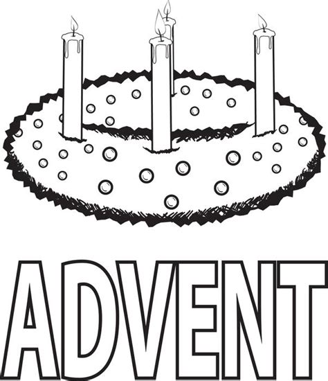 free printable advent wreath coloring page for kids