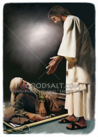 imagenes de dios levantando al caido jesus talking to a man lying on the ground steps to