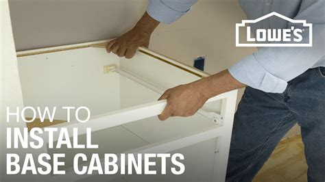 how to install klearvue cabinets how to install base cabinets youtube