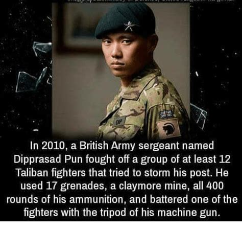 British Army Memes - in 2010 a british army sergeant named dipprasad pun fought
