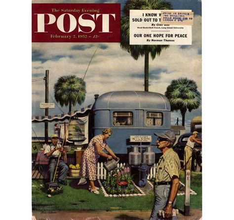 L Post by Stevan Dohanos Selected Covers For Saturday Evening Post