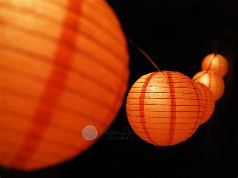 string lantern lights diy 8 quot pumpkin paper lantern string light decorating