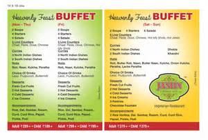 buffet menu buffet menu jashn vegetarian restaurant