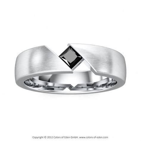 s ring black platinum satin finish s