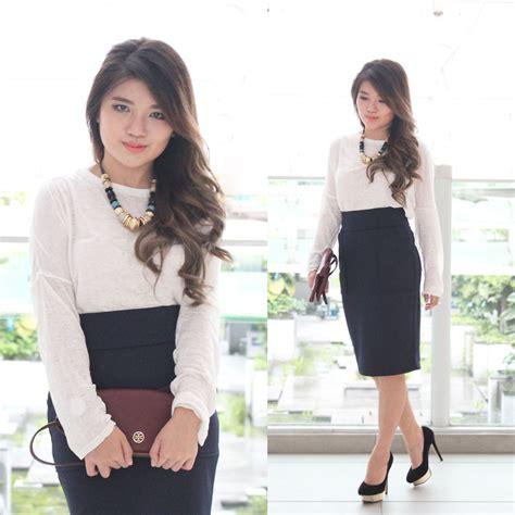 mai jrunway high waist pencil skirt zara white