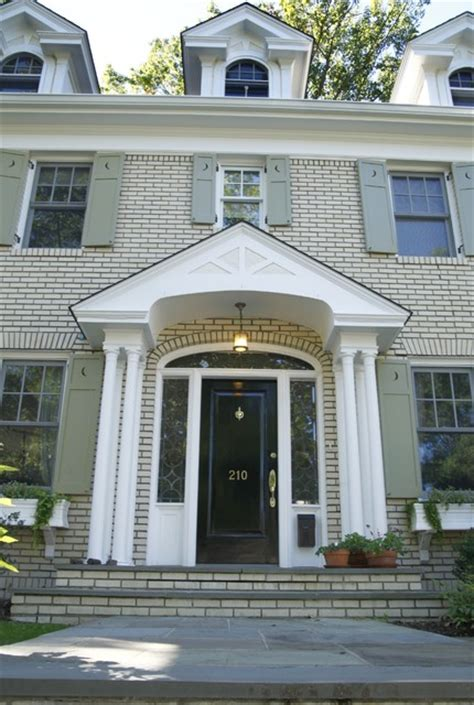 Yellow Brick Colonial Exterior Modern Exterior New Colonial Front Door Designs