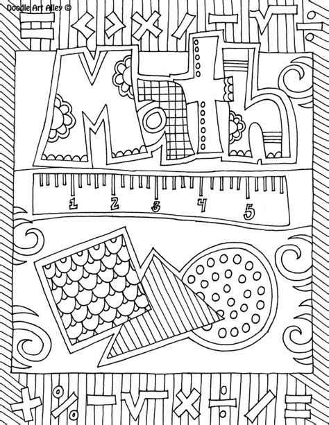 math doodle ideas subject cover pages coloring pages classroom doodles