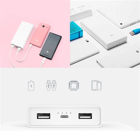Power Bank Mi Lazada xiaomi mi 20 000mah power bank white lazada ph