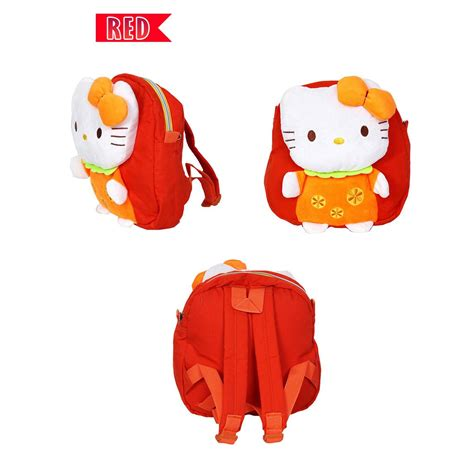 Tas Anak Backpack Hello 4d tas ransel anak perempuan motif hello all size