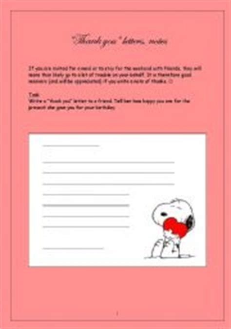 Thank You Note To Esl Teaching Worksheets Thank You Letter