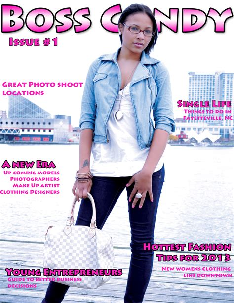 magazine cover template boss candy models