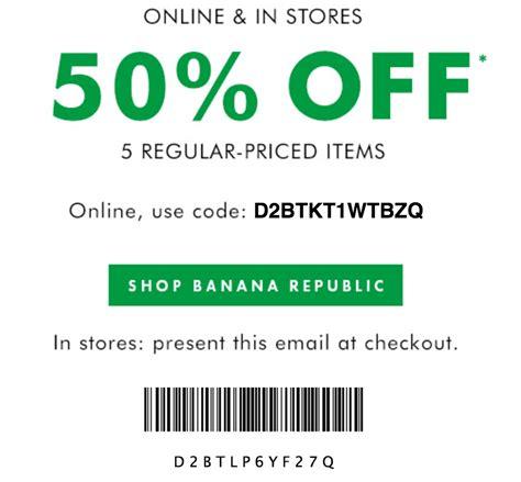 Banana Republic Printable Coupon