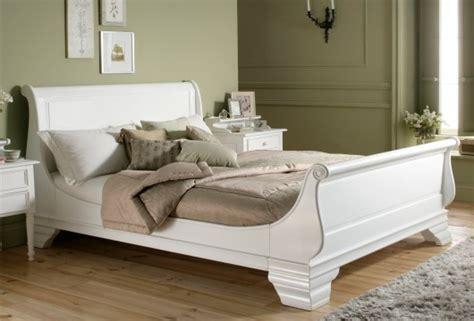 White Sleigh Bed Frame Bordeaux Style White Wooden Sleigh Bed King Size Bed Frame Only 163 749 00 White