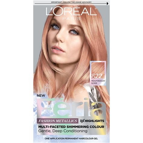 l oreal new hair color l or 233 al feria permanent hair color 822 gold