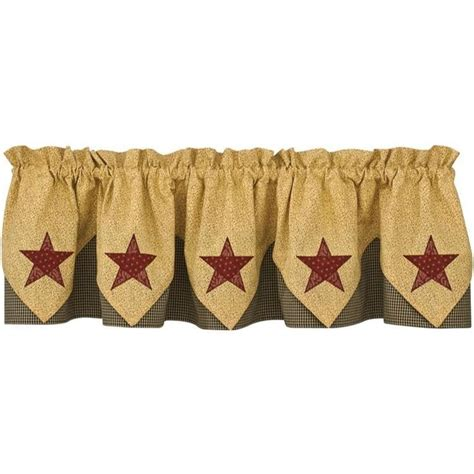 country village curtains country star point valance lined
