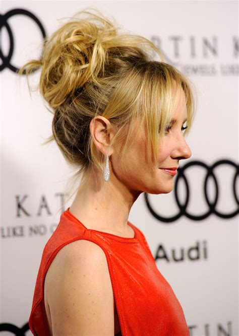 anne heche hairstyles anne heche messy updo messy updo lookbook stylebistro
