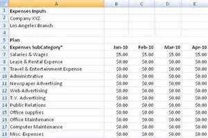 Departmental Budget Template Budget Worksheet Examples Thedesigngrid