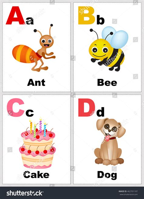 aa card alphabet printable flashcards collection with letter a b c