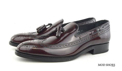 brogue tassel loafers brogue tassel loafers the beckleys mod shoes