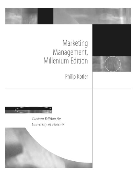 Marketing Management Books For Mba Free Pdf by Marketing Management Millenium Edition Book For Mba Bba