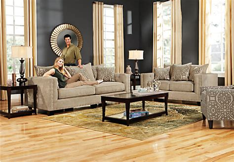 cindy crawford home sidney road taupe 7 pc living room cindy crawford home sidney road taupe 7 pc living room