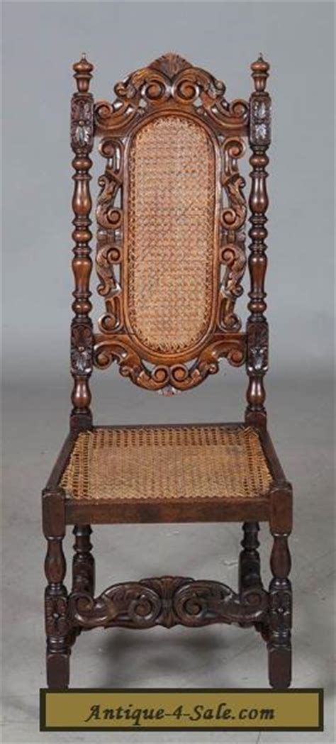 Antique Oak Dining Chairs For Sale Set Of Six Antique Carved Oak Dining Chairs Seats And Backs For Sale In United States