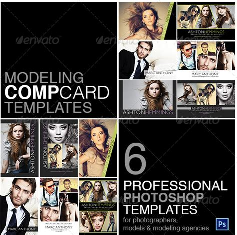 comp card template images