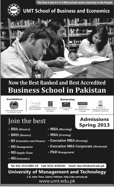 The Economist Mba Ranking 2012 by Umt School Of Business And Economics Admissions