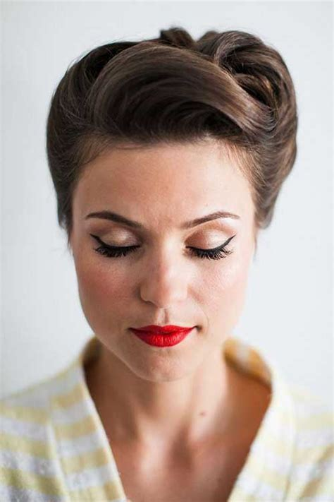fifties updo 50s hairstyles for short hair the best short hairstyles
