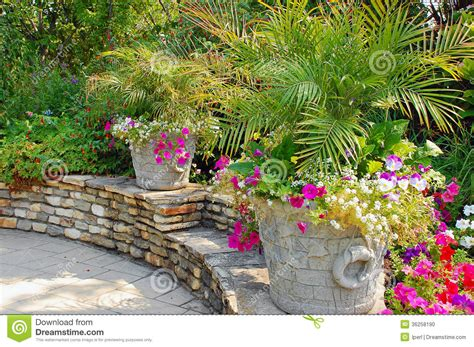 summer patio garden stock photo image 36258190