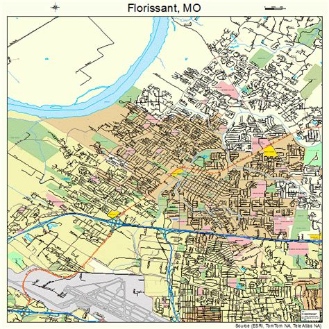 florissant missouri street map 2924778