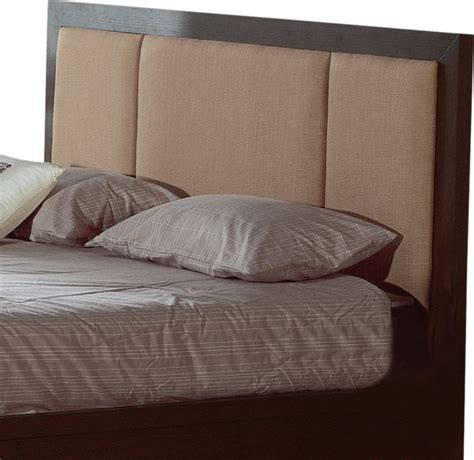 Modern Bedroom Decor atlas fabric headboard in wenge finish queen