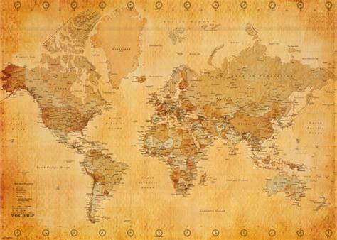 printable world map vintage giant vintage world map poster