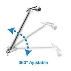 bathroom 9 adjustable shower arm mount extension extender