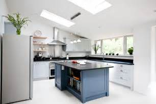 Blue Grey Cabinets Kitchen Blue Grey Kitchen Bespoke Handmade Wood Kitchens By Maple And Gray