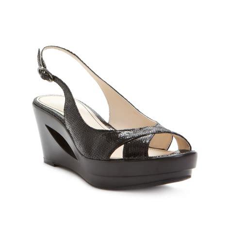 calvin klein wedge sandals calvin klein rosaria wedge sandals in black lyst