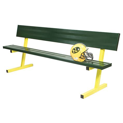 players bench locations 7 189 player bench w seat back surface mount powder coated