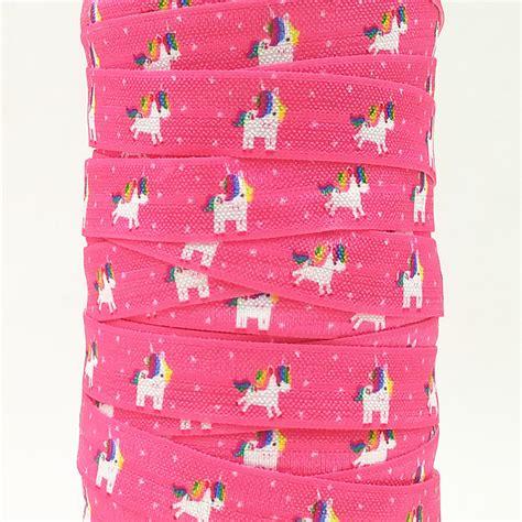 Foe 16mm Quality q n ribbon wholesale oem 5 8inch 16mm 160603011 unicom printed folded elastic foe for